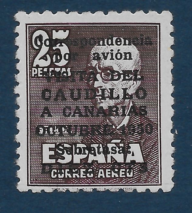 Spanje 1950 - 'Visita del Caudillo a Canarias' (Visit of Franco to the Canary Islands) without number. Comex - Edifil 1083