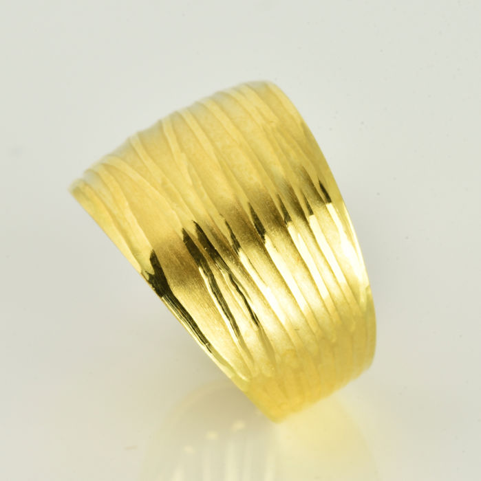 18 K Ouro amarelo - Anel