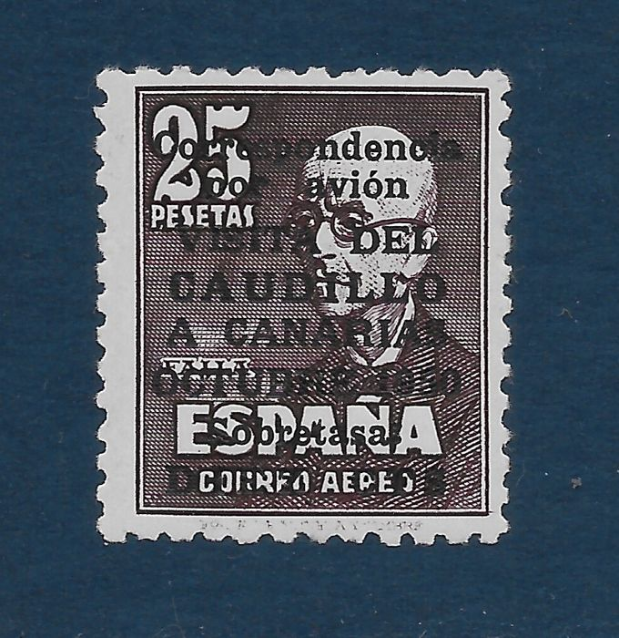 Spanje 1951 - 'Visita del Caudillo a Canarias' (Visit of Franco to the Canary Islands). Control number on the - Edifil 1090
