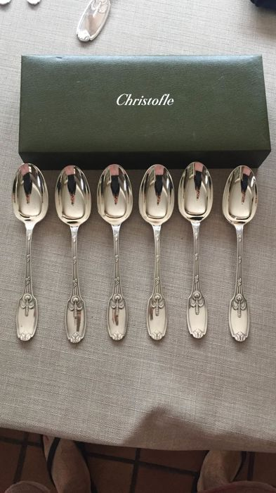 Spoon (6) - Silver plated - délaisse - France - Early 20th century