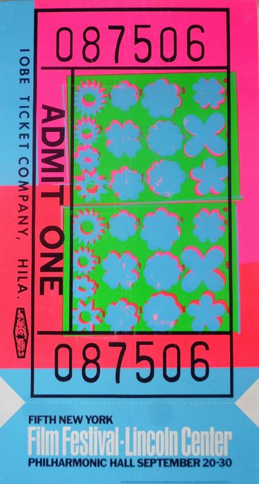 Andy Warhol - Ticket - Film Festival - Lincoln Center