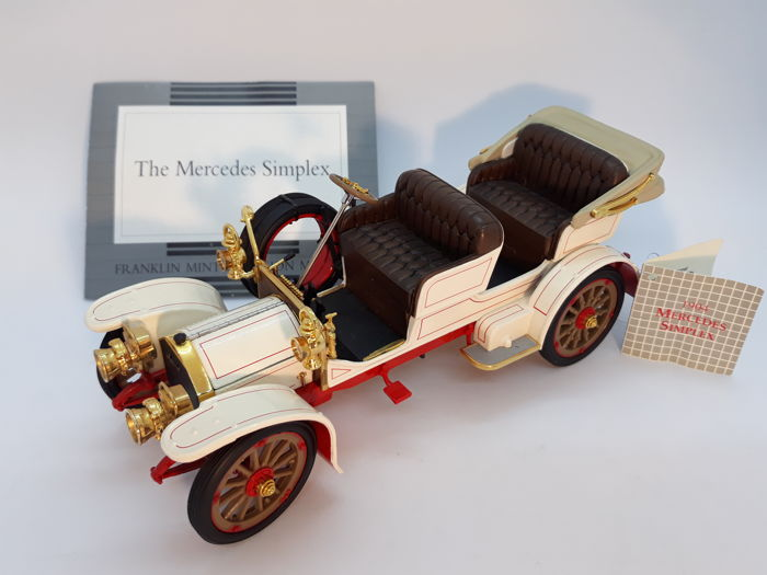 Franklin Mint - The 1904 Mercedes Simplex - extremly rare with Certificate of Authenticity - die-cast, mix materials, Goldplate