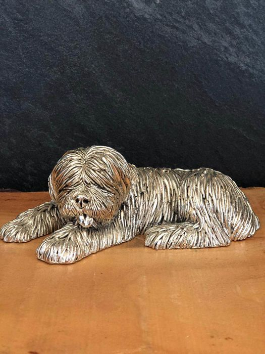 Laminated silver bobtail dog cultivation - .800 silver, .925 silver