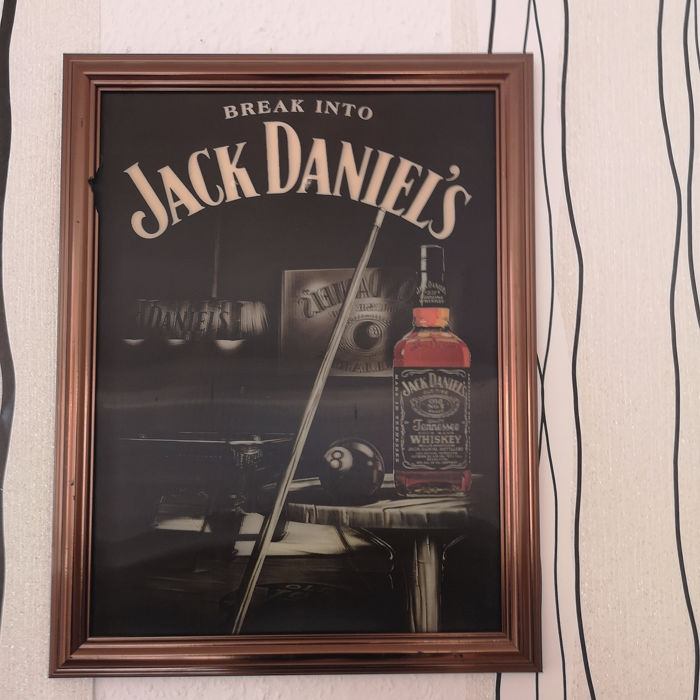 Jack Daniels - Change picture, lens raster image, wobbly picture, 3D effect - wooden frame for sale