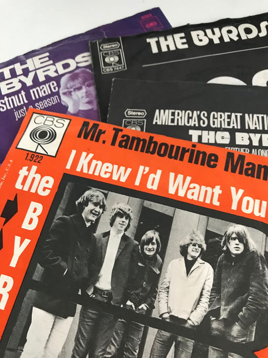 Byrds - Collection of 4 original picture sleeves incl. top condition Tambourine Man - 45 rpm Single - 1965/1971