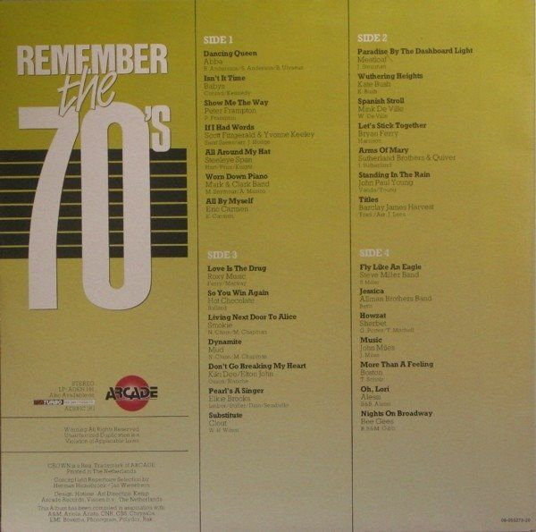 Various Artists/Bands in 1960's, Various Artists/Bands in 1970's