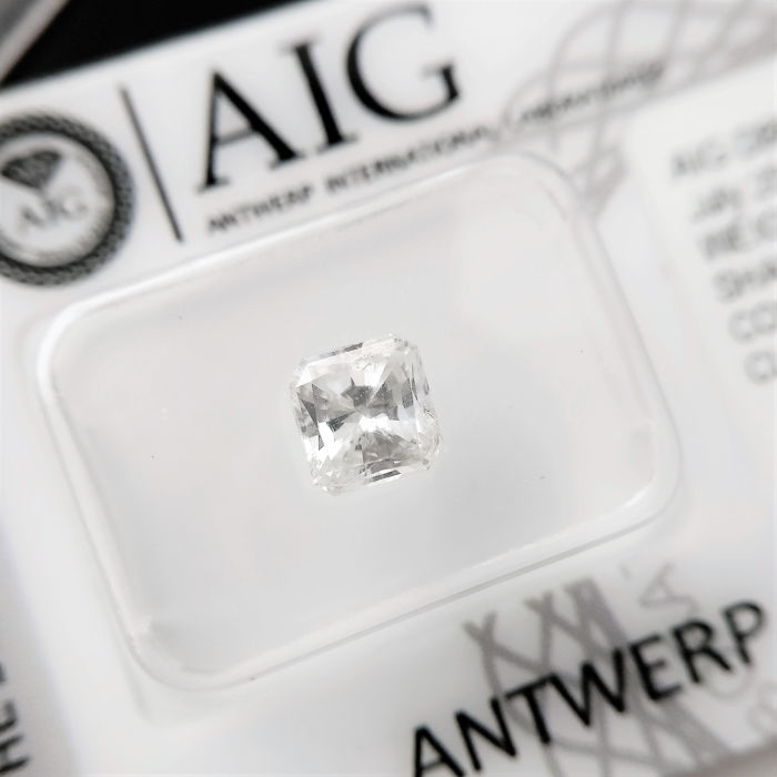 1 pcs Diamant - 1.01 ct - Radiant - F - SI1