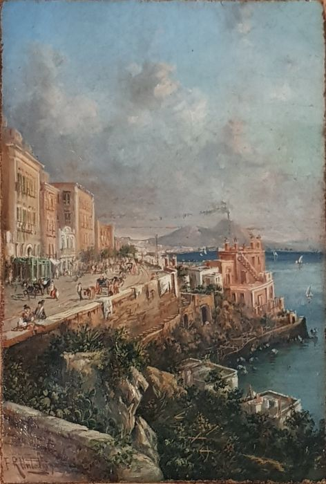 Franz Richard Unterberger(1838-1902) - Napoli