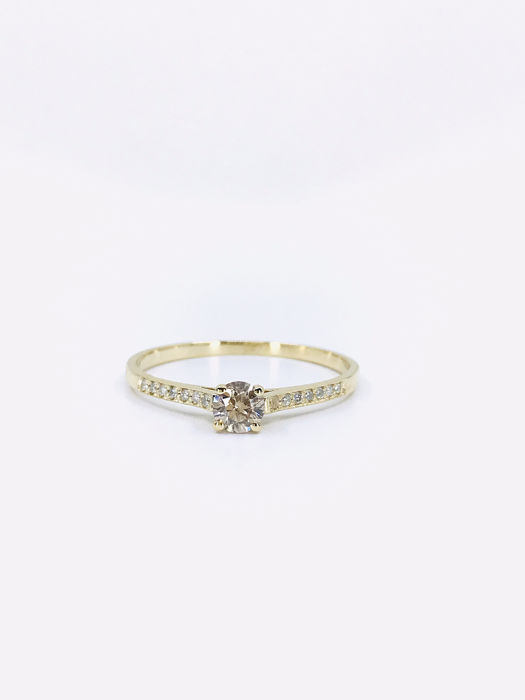 14 kt Gelbgold - Ring - 0.37 ct Diamant - Diamanten