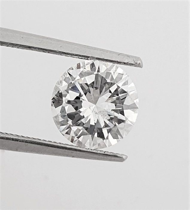 Diamante - 1.60 ct - Brillante - D (incoloro) - VS2