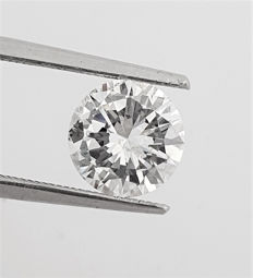 Diamante - 1.60 ct - Brillante - D (incolore) - VS2
