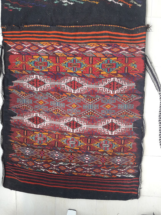 Yuruk - Hand Made Turkish Nomadic Grain Sack, Chuval - 175 cm - 105 cm