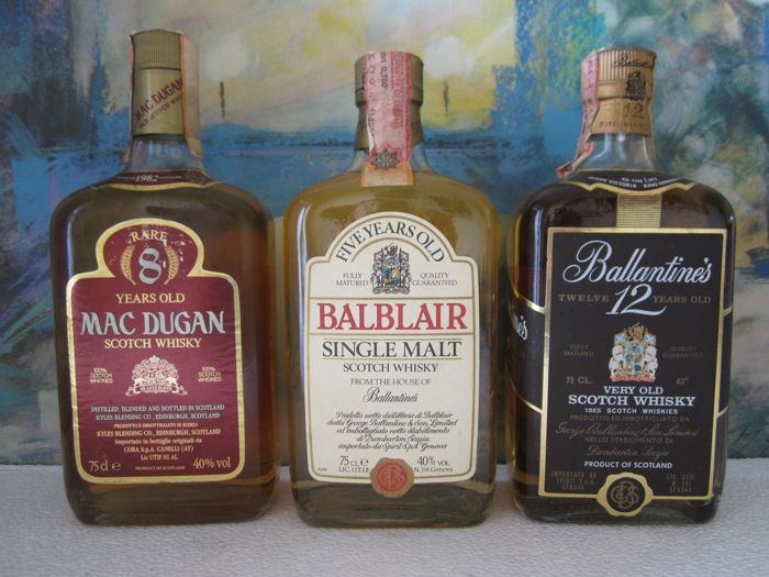Mac Dugan 1982 8 years - Balblair 5 years old - Ballantines