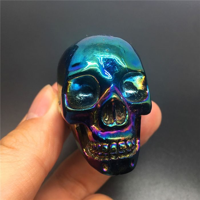 Agate (variety of quartz) Plating Skull - 50×38×30 mm - 90 g