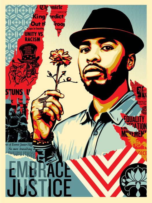 Shepard Fairey (OBEY) - Embrace Justice