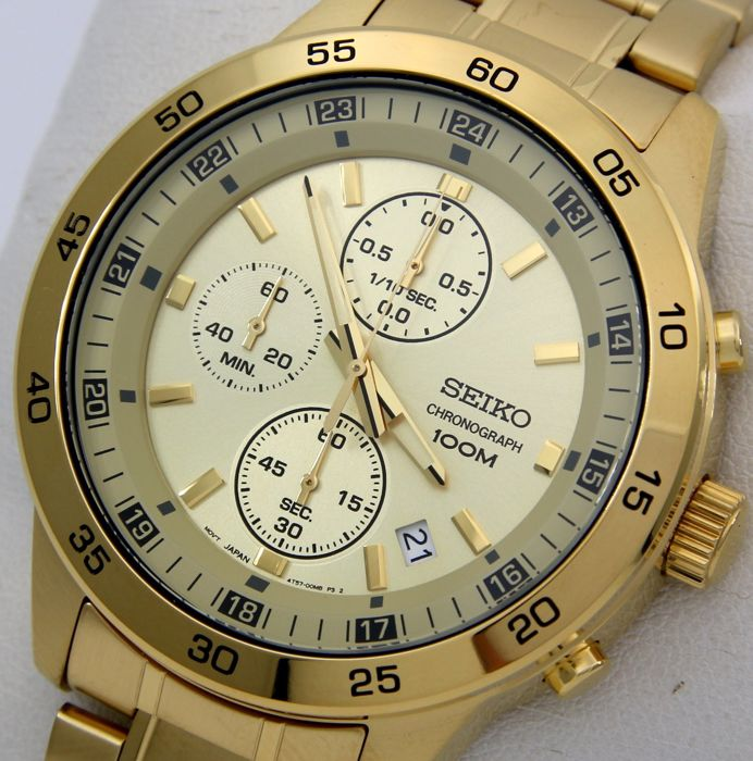 "Seiko - Chronograph ""Gold Edition"" 100M- ""NO RESERVE PRICE"" - Men - 2019"
