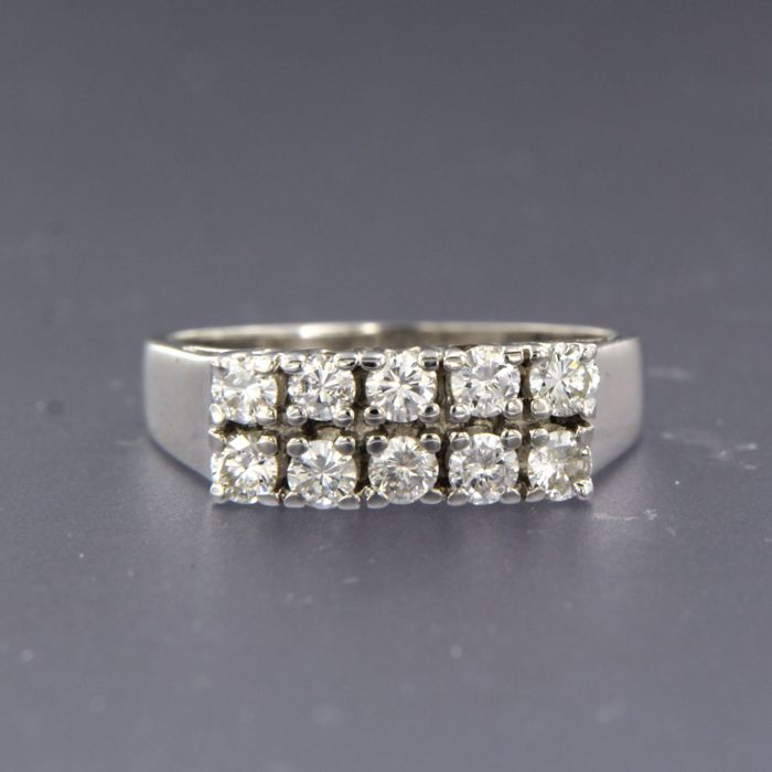 14 quilates Oro blanco - Anillo - 0.70 ct Diamante