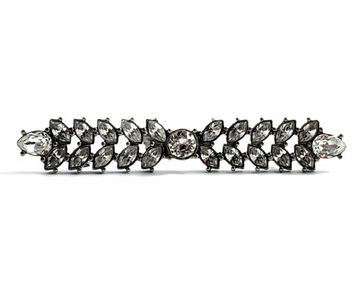 Christian Dior Ohrringe  Metal silver and Swarovski crystal - Brooch