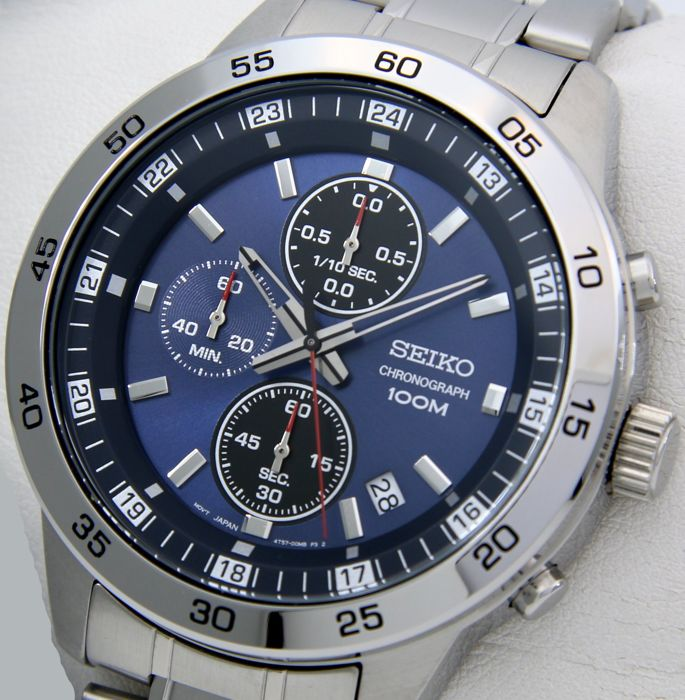 "Seiko - Chronograph ""Blue Dial"" 100M- ""NO RESERVE PRICE"" - Heren - 2018"