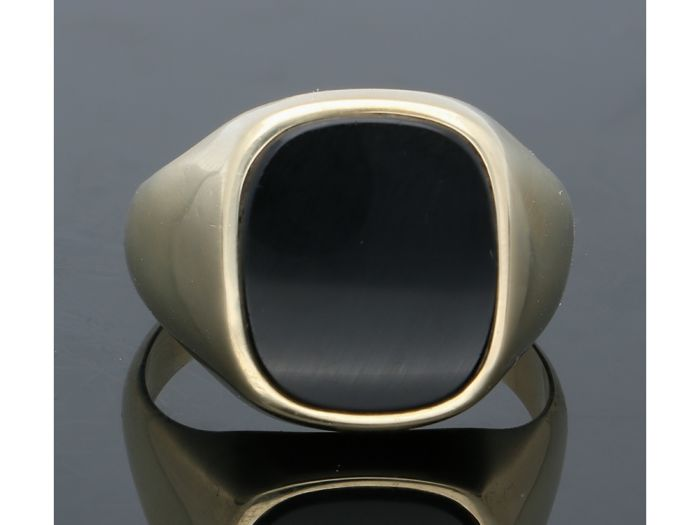 14 kt Gelbgold - Ring Onyx