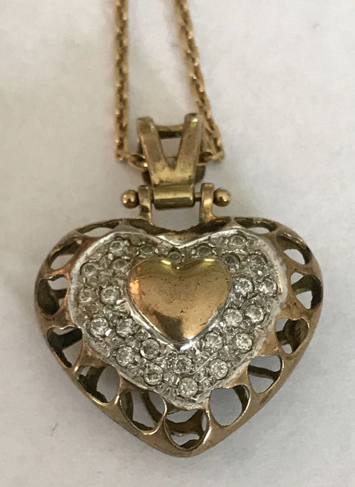 8 kt. Yellow gold - Necklace with pendant