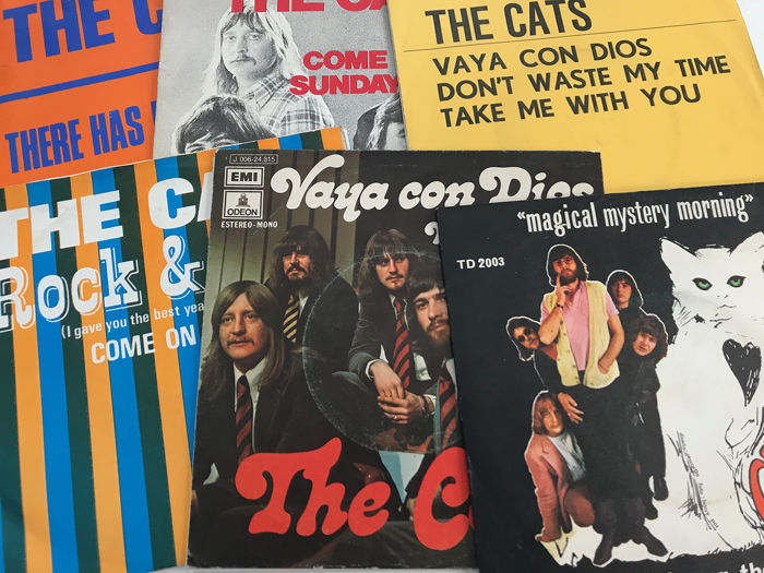 The Cats - Collection of 6 original Spain / Belgium single in different sleeves - 45 rpm Single - 1970/1974