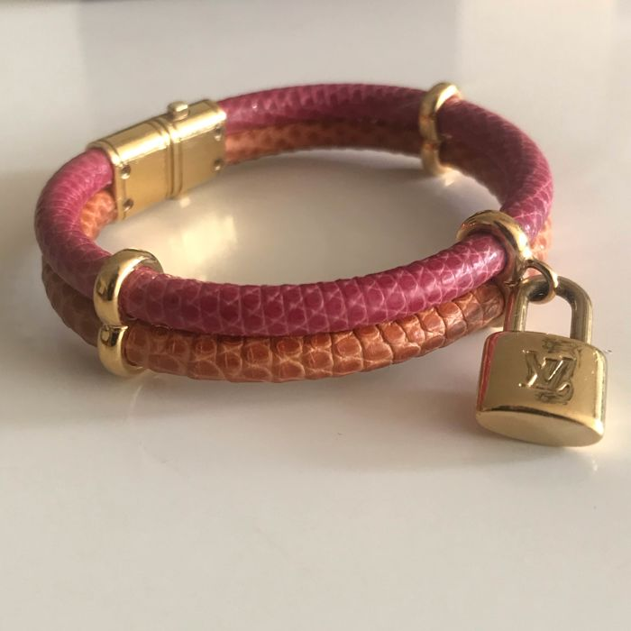 Louis Vuitton - Keep it twice Special edition Lizard Skin Multi color  Armband