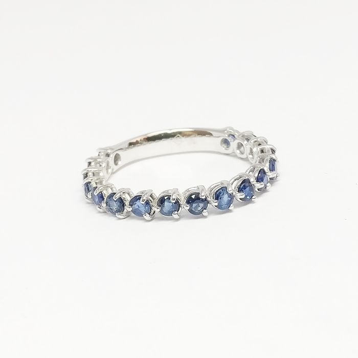 18 kt. White gold - Ring - 1.63 ct Sapphire