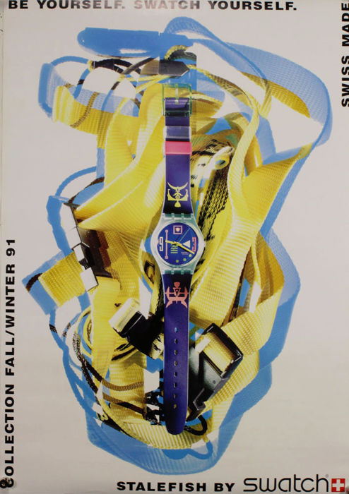 Anonymous - Stalfish by swatch, be yourself - 1991