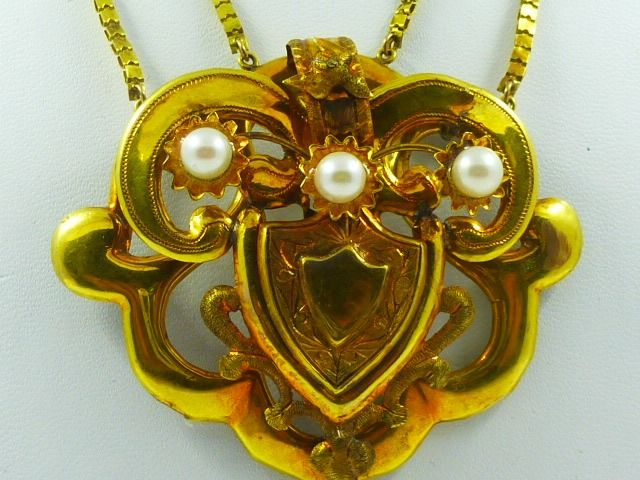 14 kt. Yellow gold - Necklace Mixed