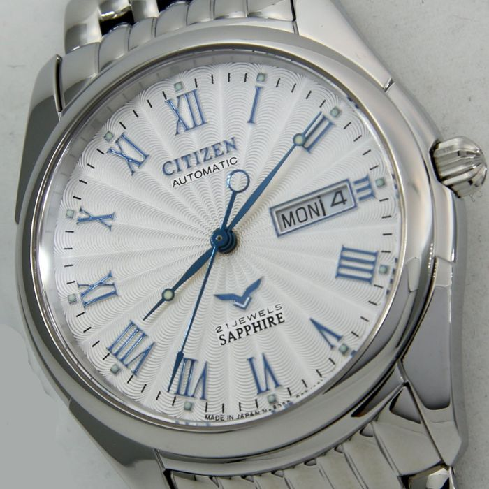 "Citizen - Automatic Sapphire ""White - Blue Hands"" Unisex -""NO RESERVE PRICE"" - Unissexo - 2018"