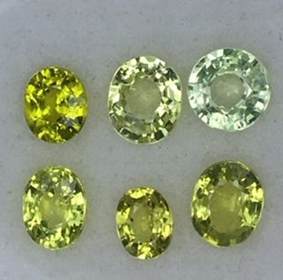6 pcs Geel, Groen Chrysoberil - 3.91 ct