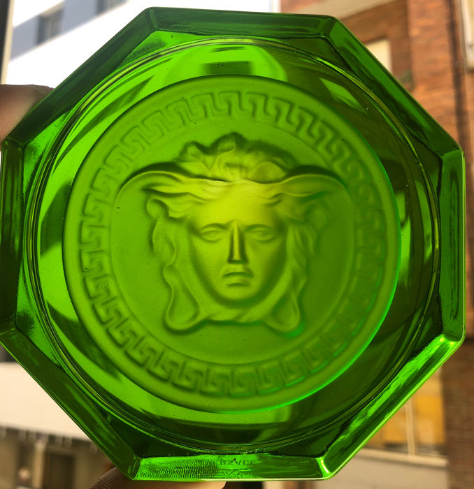 Exclusive Versace Rosenthal Ashtray  - green glass