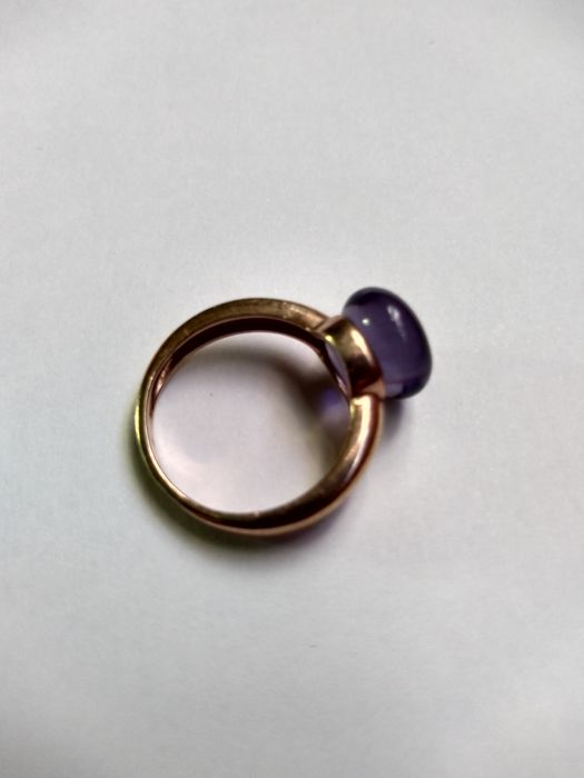 925 Pink gold, Silver - Ring Amethyst