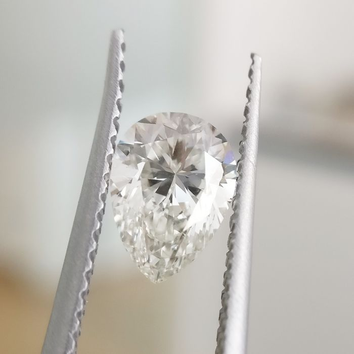 1 pcs Diamond - 1.01 ct - Pear - J - VS2
