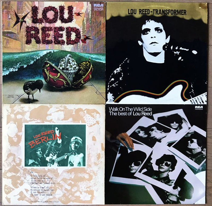 Lou Reed - 4 lp's including his first 3 solo lp's Lou Reed