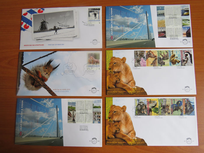 Netherlands 2013/2014 - Two complete years of FDCs - NVPH E687/E705