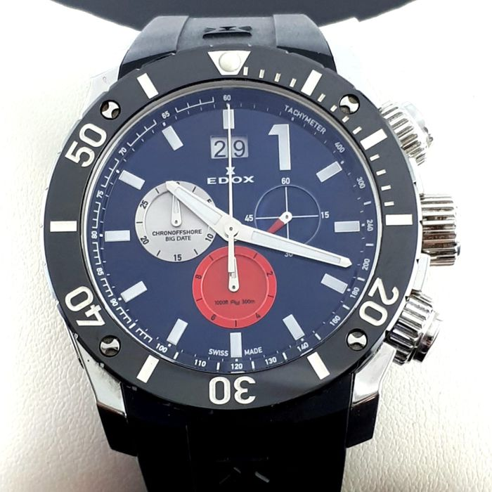 "Edox - Class 1 Chronograph Steel 45mm - ""NO RESERVE PRICE"" - Men - 2011-present"