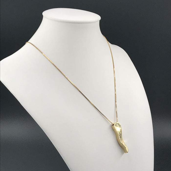 Salvini - 18 kt. Gold - Necklace with pendant - 0.01 ct Diamond