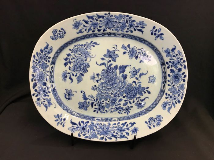 Dienblad - Blauw en wit - Porselein - China - Qianlong (1736-1795)