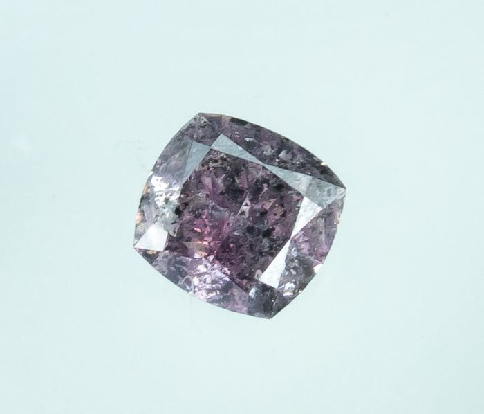 Diamante - 0.13 ct - Rosa púrpura fantasía natural - I2  *NO RESERVE*