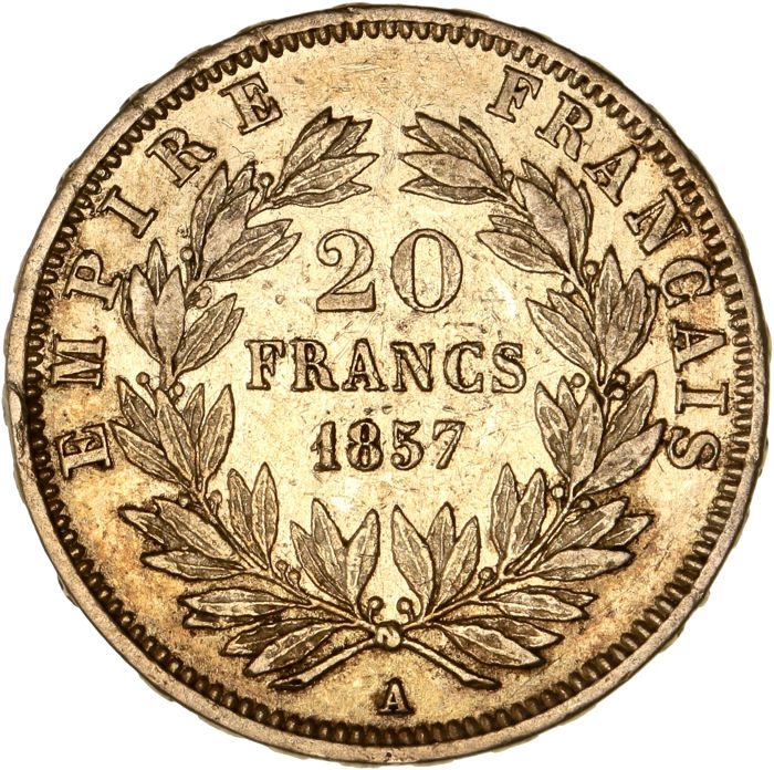 France - 20 Francs  1857 A 'Napoléon III' - Or