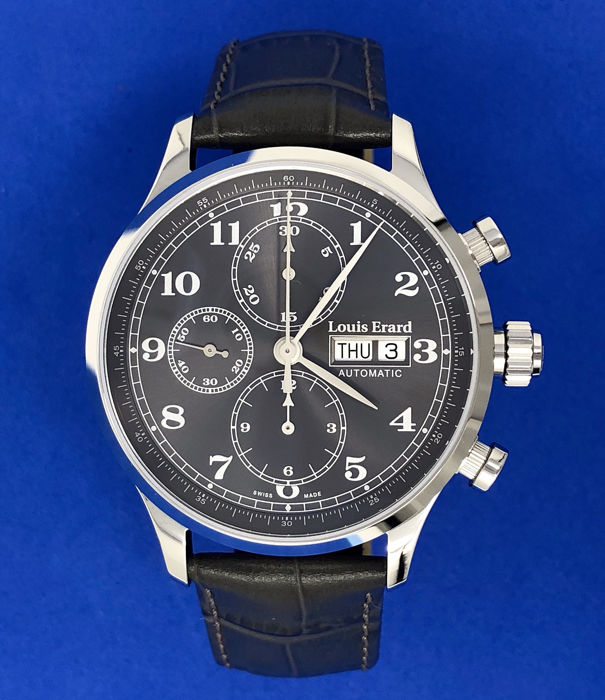Louis Erard - Automatic Chronograph Watch 1931 Grey  - 78225AA23.BDC36 - Herren - BRAND NEW