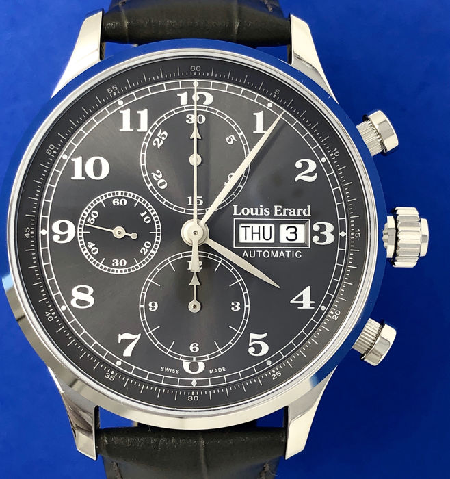 """Louis Erard - Automatic Chronograph Watch 1931 Grey """"NO RESERVE PRICE"""" - 78225AA23.BDC36 - Homme - BRAND NEW"""