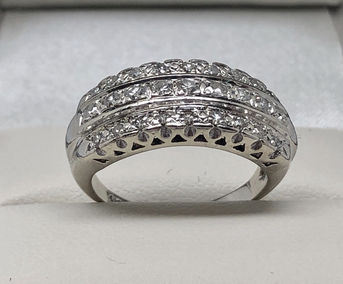 14 kt. White gold - Ring diamonds