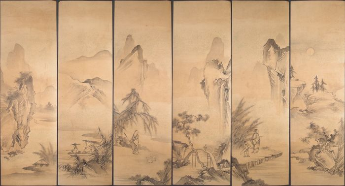 Paintings (6) - Paper - Landscape - Japan - Late Edo period