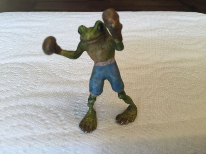 Sculpture, Bronze of Vienna - The boxer - Bronze (cold painted) - Early 20th century