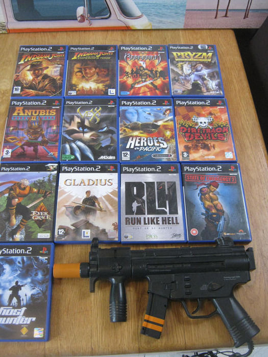 13 Sony - Ps2 TOP GAMES!! + Machine Gun  - In original box - Catawiki