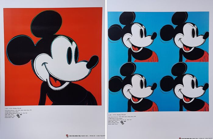 Andy Warhol - 2x Mickey Mouse - Jaren 1990