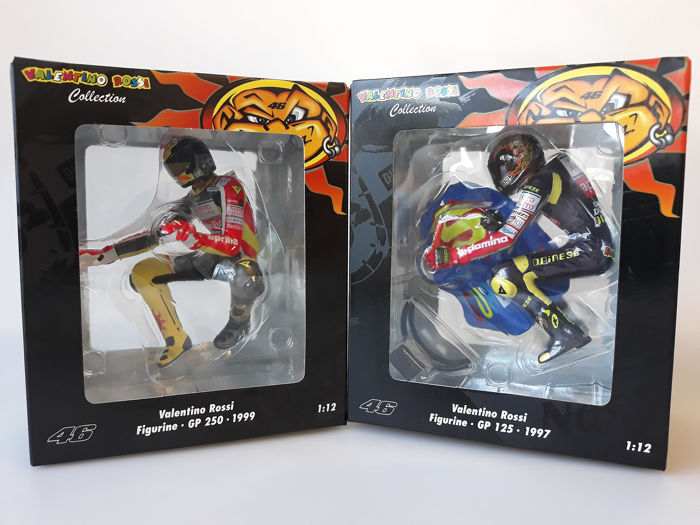 MiniChamps - 1:12 - 2 x Valentino Rossi Riding - Limited Editions or 7,646 pcs.